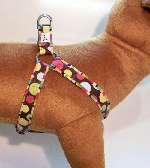 Paint Balls fabric dog harness Cutie Collars