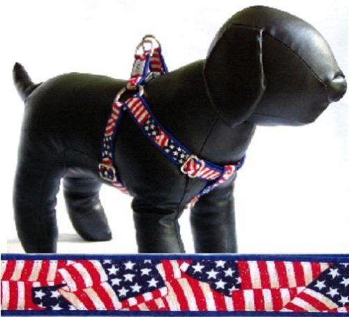 Patriot fabric dog harness Cutie Collars