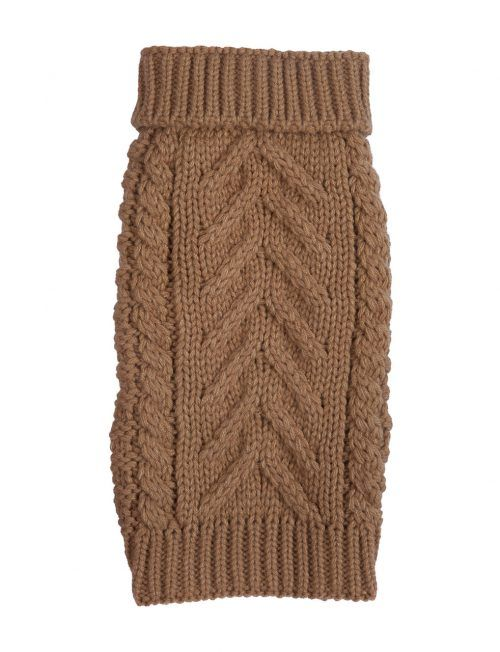 Super Chunky Camel dog sweater by Fab Dog