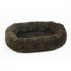 Bowsers Donut Dog Bed chocolate bones