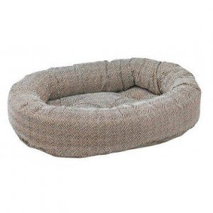 herringbone donut dog bed