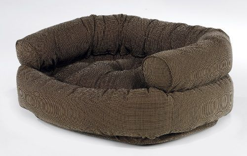 Double Donut Dog Bed - houndstooth