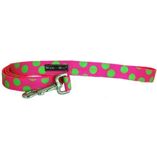 walk-e-woo-neon-dots-green-pink-dog-leash-lead