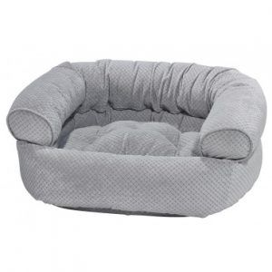 nickel-weave double donut dog bed