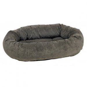 pewter-bones donut dog bed