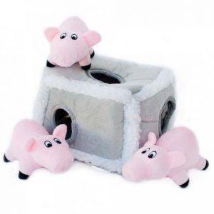 zippypaws-pig pen-burrow-dog-toy