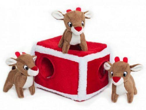 zippypaws reindeer pen burrow dog toy