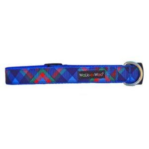 walk-e-woo royal plaid dog collar