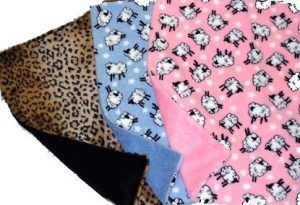 sheep-leopard dog binkey blanket