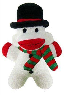 snowball-baby-sock-monkey dog toy