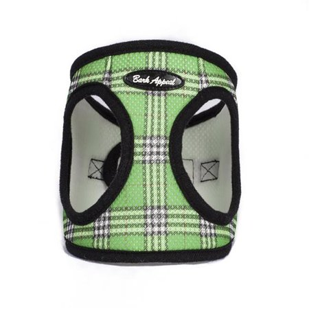 Green Plaid Step In Breathable Dog Harness by Bark Appeal