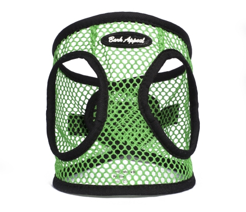 Green Netted EZ Wrap Bark Appeal Dog Harness
