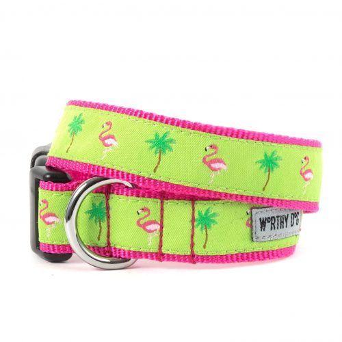 Worthy Dog Flamingo Dog Collar
