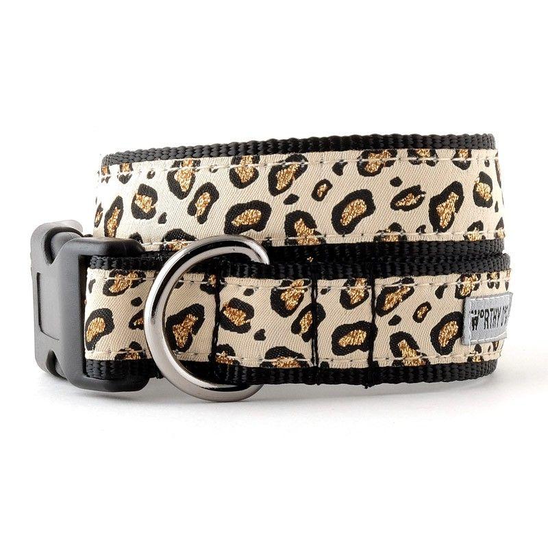 Worthy Dog Cheetah Tan Dog Collar