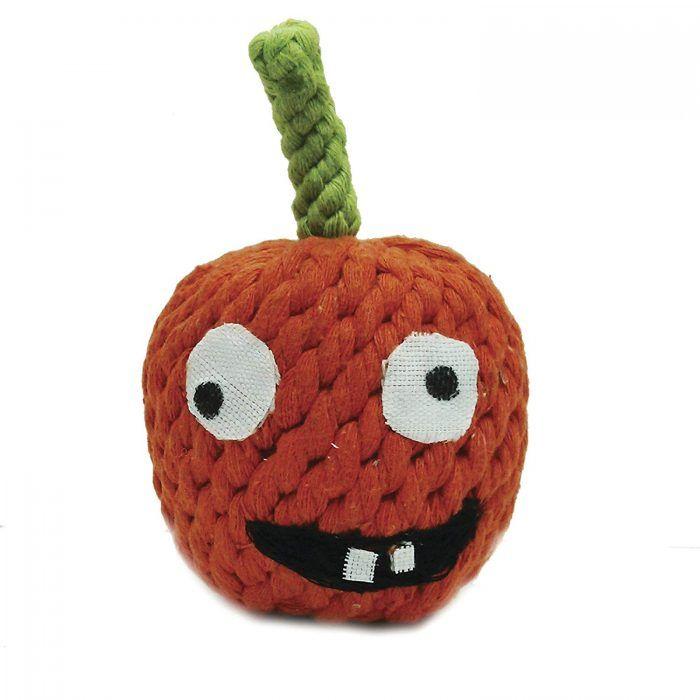 pumpkin rope dog toy