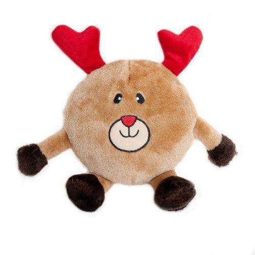 Zippy-Paws-Holiday-Brainey-Reindeer-Dog-Toy